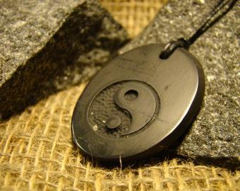 "Shungite pendant ""Yin-Yang"" from Karelia Exclusive mascot aura."