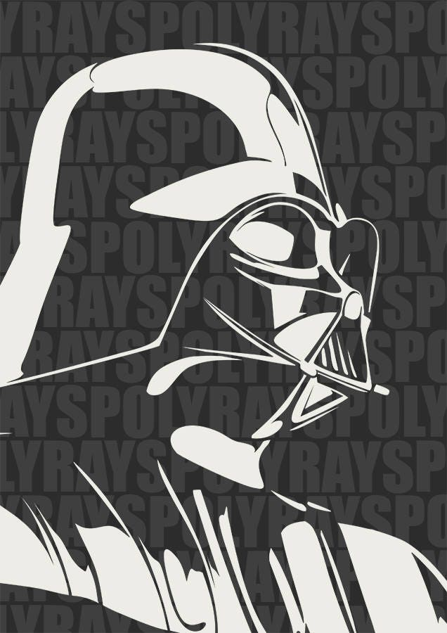 Darth vader svg star wars stencil instant download eps - Pochoir star wars ...