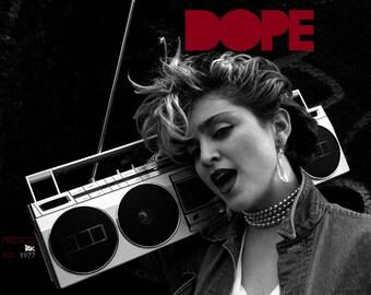 Black Madonna Dope 80's Boombox Shirt S-XL