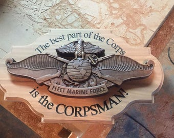 Fleet Marine Force carving