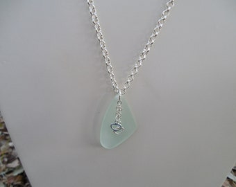 Seafoam Sea Glass Necklace and Earring Set