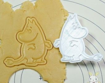 Moomin looking back Cutter and Stamp