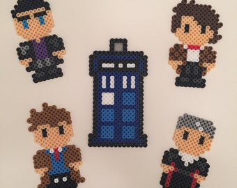 Doctor Who Magnets - Perler Beads
