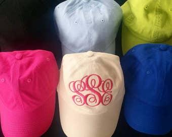 Monogram Hat Custom Personalized Gift