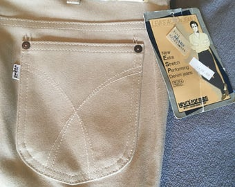 Levis for men khaki new old stock khaki trousers size 42x34 43535-4523 rare Action Jeans one snag as pics show