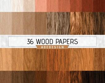 WOOD digital paper, wood digital backdrop, wood background, wood texture, wood scrapbook paper, printable scrapbook, rustic red wood grain