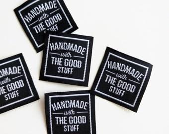"Handmade Label: ""Handmade with the good stuff"" (20pcs)"