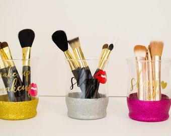 Glitter Makeup Jars