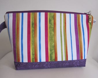 ChestnutFibres Zippered Knitting Project/Crochet Bags, Travel/Cosmetic/Accessory Pouch
