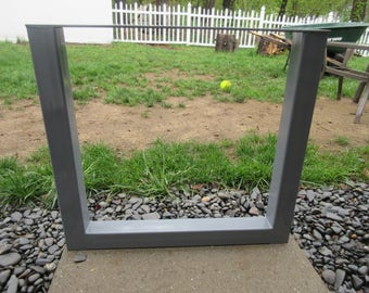 Furniture Table Legs,Metal Table Legs,Loft Table Metal Base,Modern Metal Table Legs,Handmade in U.S.