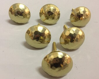 Set 6 X HAMMERED GOLD KNOBS - Knob Home decor drawer pull