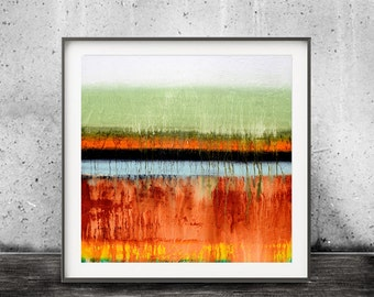 Abstract Art Colorful Printable Digital Download Art Print Modern Contemporary Painting Urban Square Painting Interior Design Sky Whitman