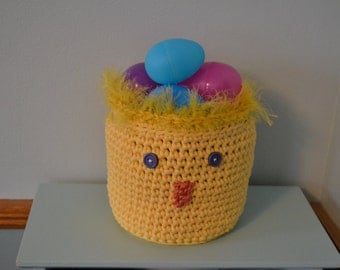 Crochet Chickie Easter Basket