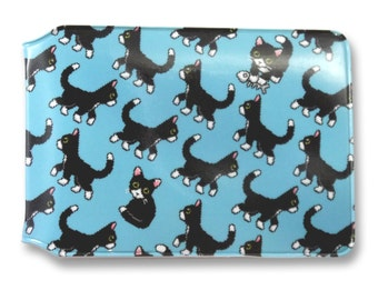 Pixel Cats Card Holder - Plastic wallet for Oyster cards, travelcards, credit cards etc.