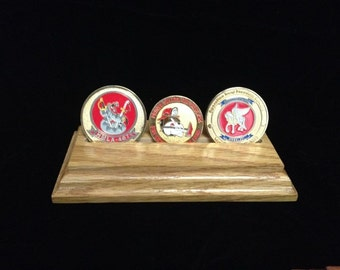 Double/Triple Challenge Coin Display