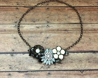 Rustic Flower Necklace