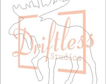 Moose Stencil