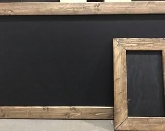 Chalk Board w/ Rustic Frame.