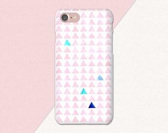 Pink Geometric iPhone Case, Geometric Phone Case, Pink iPhone Case, Geometric Galaxy S6 S7 Case, Preppy iPhone Case, iPhone 5 6 6S 7 Plus
