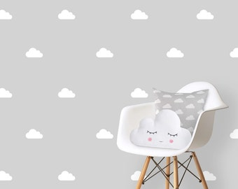 Wall Decals Nursery Etsy - Nursery wall decals clouds