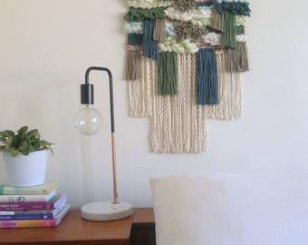 Woven Wall Hanging - Woven Tapestry - Weaving - Fiber Art - Textile Art - Home Decor - Hand Woven - Bohemian Wall Decor -Tissage- LAKE HOUSE