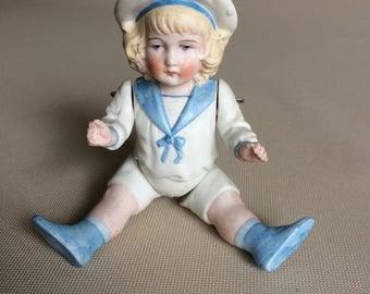 Hertwig Sailor Boy Bisque Doll