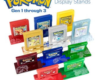 Pokemon Legendary Edition Cartridge Display Stands