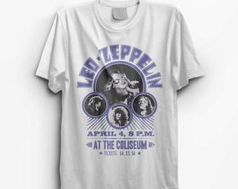 Led Zeppelin White Vintage Look T-Shirt - S M L XL