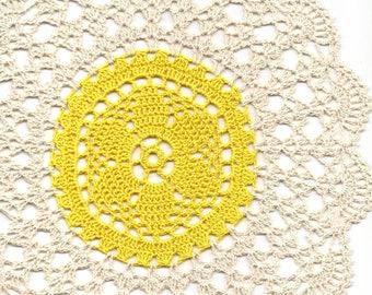 Crochet Lace Doily Small Crocheted Doilies Housewarming Gift Home Wedding Decor Handmade Decoration 100% Cotton Textile Art Vintage Interior