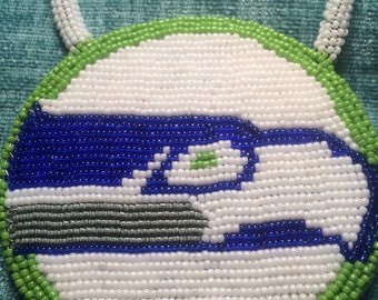 Seahawk beaded medallion