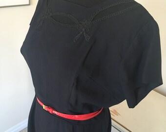 Black 1950s 50s dress medium large