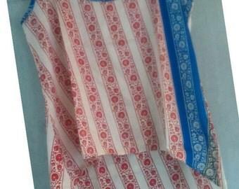 Silk High Low Boho Inspired Top