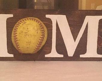 Softball HOME Sign