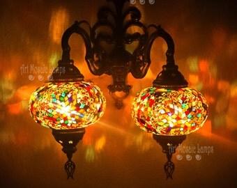 Turkish lampshade,oriental lighting,bedroom nightlight,home and living,rustic decor,vanity lighting,wall sconces indoor,designer lampshade