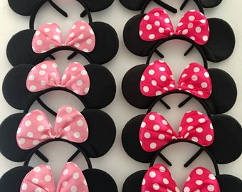 Minnie Mouse Birthday Favors, Minnie Headband, Mickey Mouse Party Favors, Minnie Party Favors, Mickey Party favors