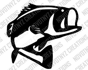 Bass SVG, Fish SVG, Fishing SVG