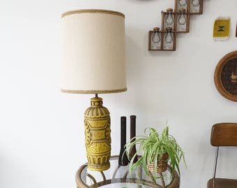 Vintage Mustard Yellow Lamp