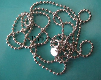 Genuine vintage Tiffany & Co beaded chain 34inches - sterling silver