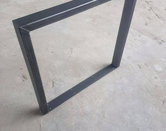Table base industrial design 73-80 cm steel 70-40 1 pair table legs