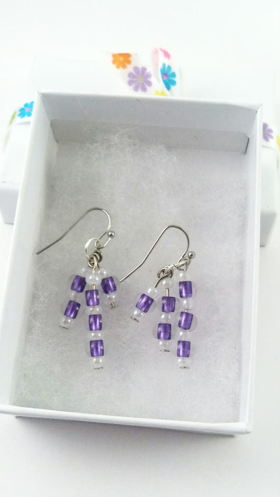 Purple dangles, Jewelry, Earrings, Purple dangles, birthday gift, prom jewelry, statement earrings, mothers day gift , something purple, mom