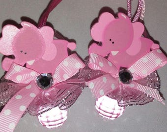 Baby Shower Baby Elephant Pacifiers Favors for girl (24 pcs)