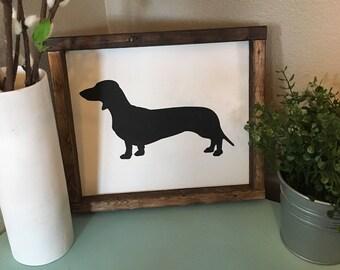 Weiner dog sign