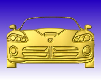Stylized Sports Car Vector Relief Model for cnc router projects or sign art in stl file format for download only