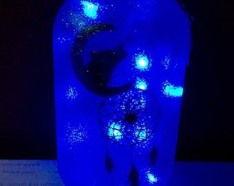 Wolf, Dreamcatcher LED Jar