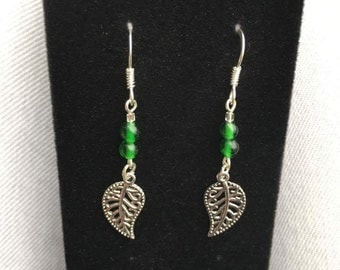 Silver Leaf Earrings, Nature Jewelry, Silver Leaves, Leaf, Trees, Leaf Earrings, Natural