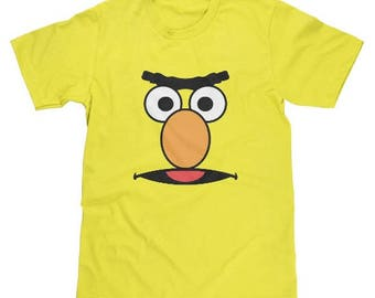 Sesame Street Bert Face Shirt Available in Adult & Youth Sizes