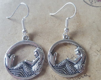 Mermaid earrings ~ silver ~