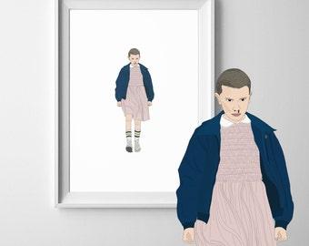 Eleven Stranger Things A4 Art Print
