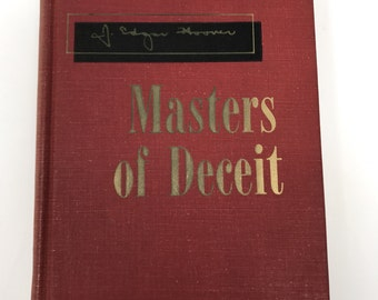 First Edition J. Edgar Hoover Masters of Deceit Vintage Book 1958
