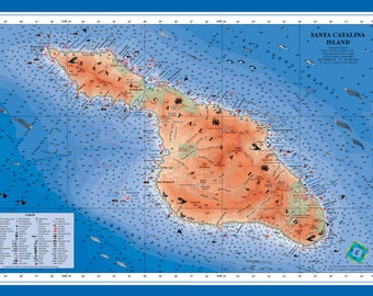 Catalina Island poster (laminated)